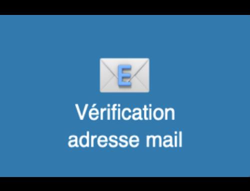 Vérification adresse mail